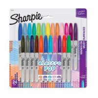 Sharpie Electro Pop Permanent Markers 24 Count $10.00 (Regular $17.88)