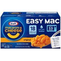 KRAFT Easy Mac Macaroni & Cheese, 18 Single Serving Pouches $5.98 (Regular $11.99)