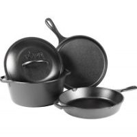 Lodge Cast Iron 4-Piece Cookware Set $54.99 (Regular $99.99)