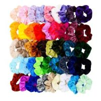 Lot of 45 Velvet Hair Scrunchies $8.75 = $0.19 each