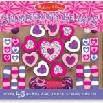 Melissa & Doug Shimmering Hearts Wooden Jewelry Making Kit $4.99