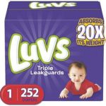 Luvs Ultra Leakguards Disposable Baby Diapers One Month Supply Available in Size 1, 2, 3, & 5!