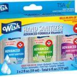 Wish Hand Sanitizer 2oz 3 Pack Box Set Pocket Size $9.99