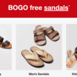 BOGO free Sandals for Everyone  – Starting at $2.49 each