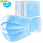 50 Pack of 3 Ply Disposable Face Mask $24.49 Shipped = $.49 each