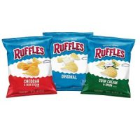 Ruffles Potato Chips Variety Pack, 40 Count $11.75 = $0.29 each!