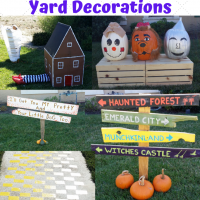 Wizard of Oz DIY Halloween Yard Decorations