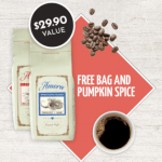 Amora Coffee Bag + Pumpkin Spice Coffee Bag for just $3.95 Shipped!