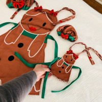 Girl & Doll Matching Gingerbread Apron & Bakers Hat Set only $19.99 (Regular $39.99)