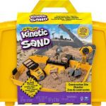 Kinetic Sand, Construction Site Folding Sandbox Playset with Vehicle and 2lbs $20.24 (Regular $29.99)