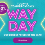 Wayfair's Way Day Today & Tomorrow (April 28 & 29) + 10% Off Coupon & FREE Shipping