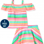 Toddler Girls 2 Piece Colorful Outfit $5.19 + 2 Piece Pajamas from $5.98 + FREE Shipping