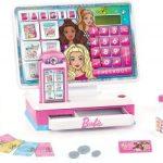 Barbie Large Interactive Cash Register with Pretend Play Money $9.46 (Regular $19.99)
