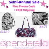 Vera Bradley Semi Annual Sale with 50% off + Promo Code + FREE Shipping