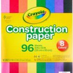 Crayola Construction Paper 96 Count $2.46 – Great for Crafts!