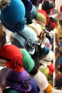 Great selection of felt hats.