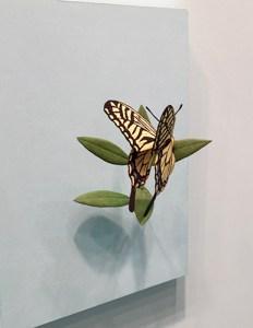 Hideki Saito-butterfy-wood sculpture-Gallery Shinseido