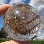 Spheres: Rutilated quartz sphere from Madagascar