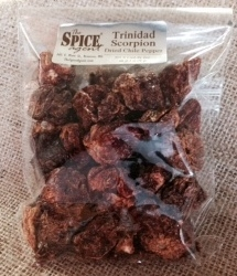 Trinidad Scorpion Chile Pepper, Dried