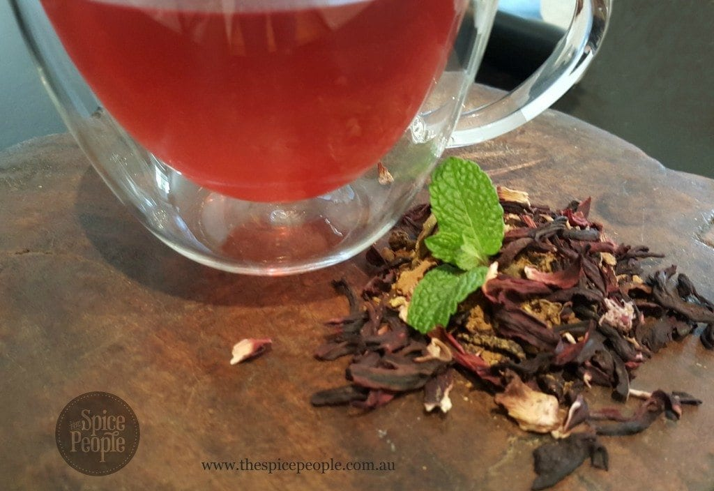 hibiscus and mint chai