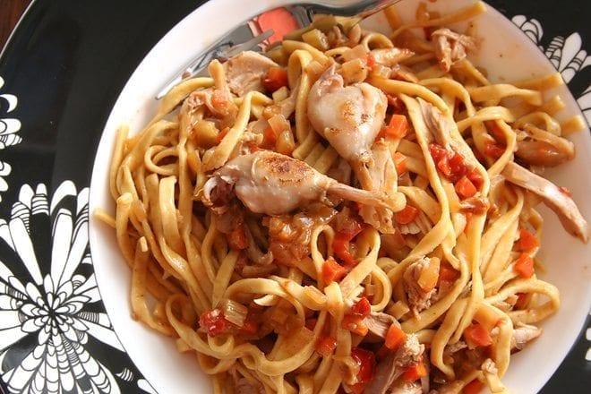 quail pasta