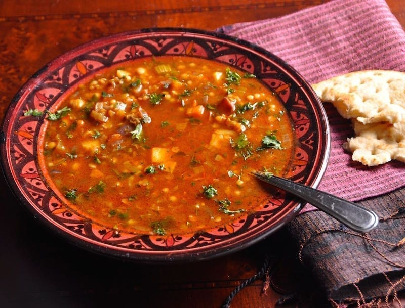 Harissa lamb and Lentil stew