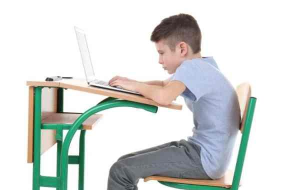 Incorrect posture concept.