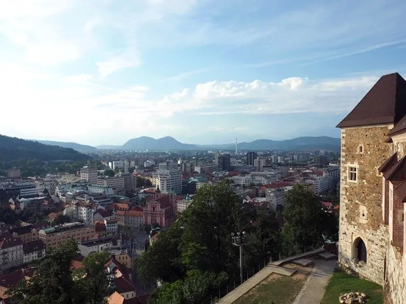 A view from Ljubljana Castle overlooking the capitol city in Slovenia.. | via the Spirited Violet