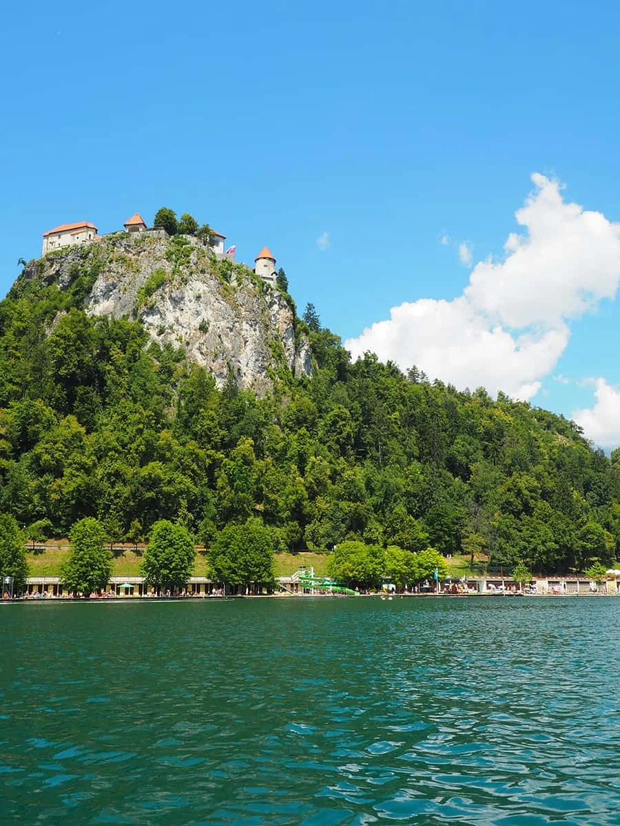 Lake Bled is in the resort town of Bled, Slovenia at the foot of the Julian Alps with views of Bled Castle. | via The Spirited Violet