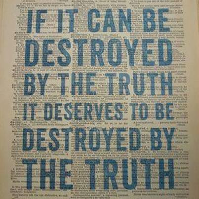 Destruido por la verdad