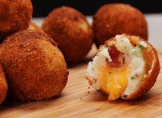 Restaurant Style Mashed Potato Cheese Bites