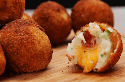 Restaurant Style Mashed Potato Cheese Bites