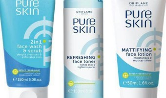 Oriflame Pure Skin Face Wash, Face Lotion and Face Toner