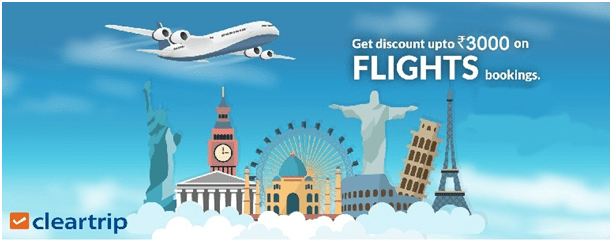 Use Cleartrip Cheap Flight Coupons to your Destination