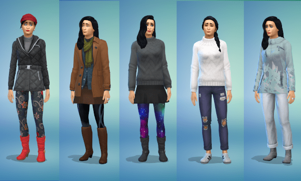 Cute Sims 4 cold weather outfits