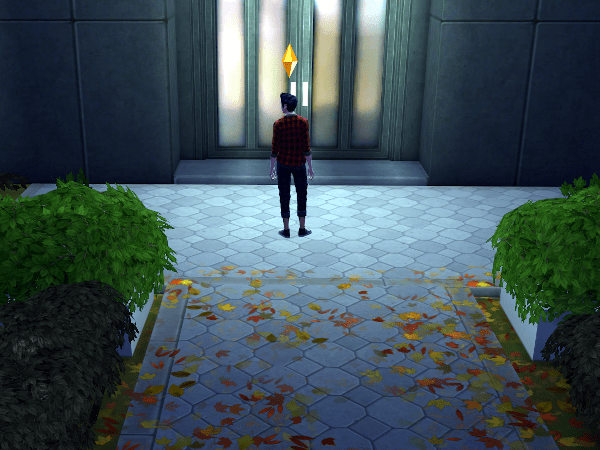 Sim locked out of his own dorm