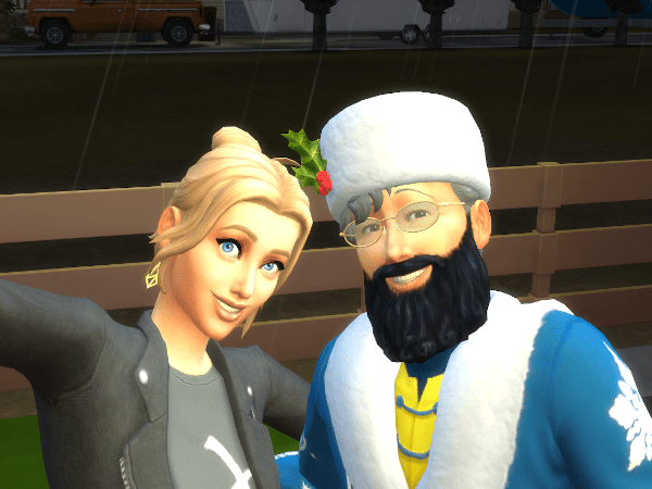 sim selfie with Santa Claus (Father Winter)