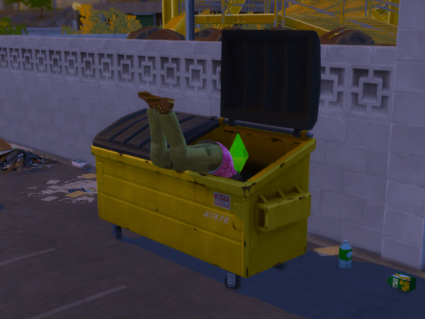 sims 4 dumpster diving