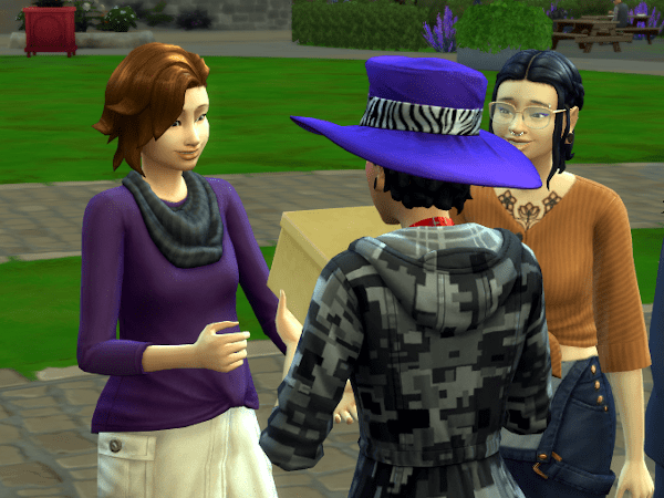 Sims 4 Country Living delivering package for an errand