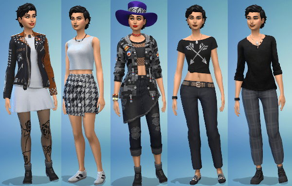 Sims 4 Everyday outfits for female Sim