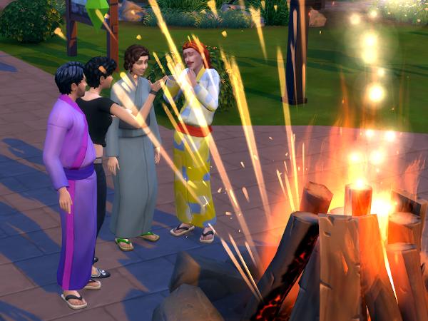 Sims 4 fireworks celebration