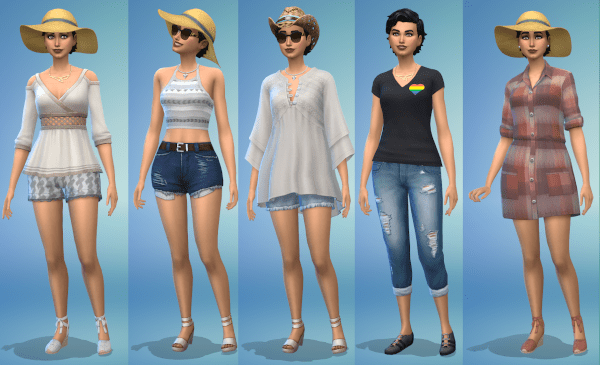 Sims 4 hot weather outfits female