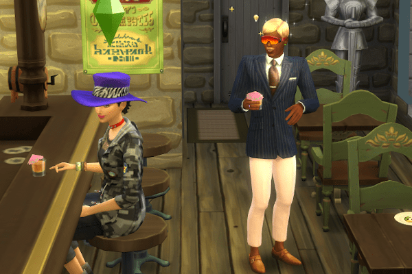Sims 4 Cottage Living out on a date
