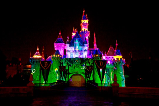 Sleeping Beauty's Castle at Halloween