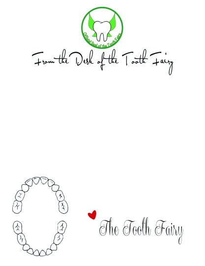 The spohrs are multiplying tooth fairy letters for Tooth fairy writing template