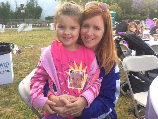 Annabel and me, March for Babies 2015