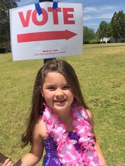 annabel rocks the vote