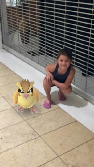 Annie and a Pokémon