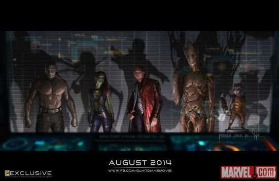 guardians of the galaxy concept art poster