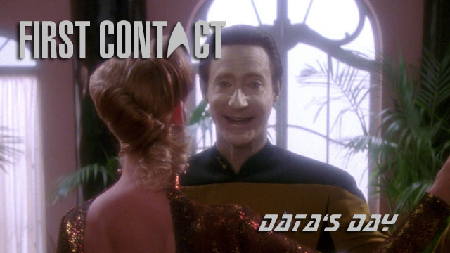 First Contact: 'Data's Day' Season 4 Episode 11 First